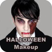 Halloween makeup Zombie photos icon
