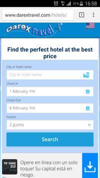 darexTravel: Vuelos y Hoteles captura de pantalla 1