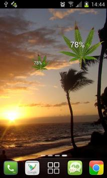 Marijuana Leaf HD Battery poster