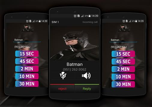 Call From Batman Fake apk screenshot