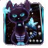ikon Tema Dark Neon Kitty