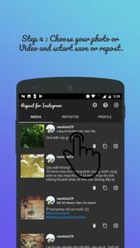 Repost for Instagram - Save and Repost Photo,Video apk screenshot