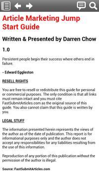 Article Marketing Guide screenshot 1