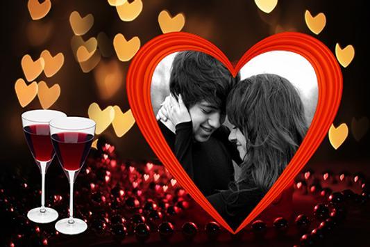 Lovely Heart Photo Frames poster