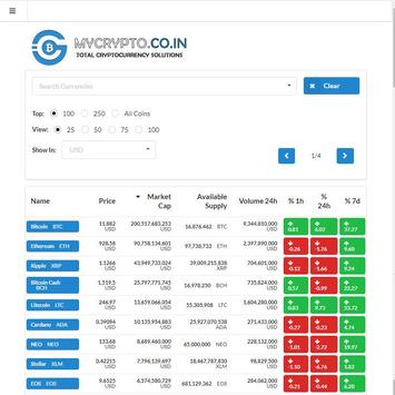 Realtime CryptoRates! apk screenshot