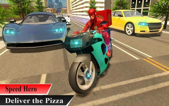 Super Flash Speed Hero Pizza Delivery screenshot 4
