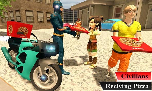 Super Flash Speed Hero Pizza Delivery screenshot 1