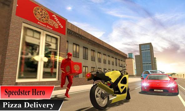 Super Flash Speed Hero Pizza Delivery screenshot 2