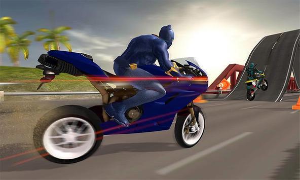 Superhero Cop Car & Bike Stunt Racing poster