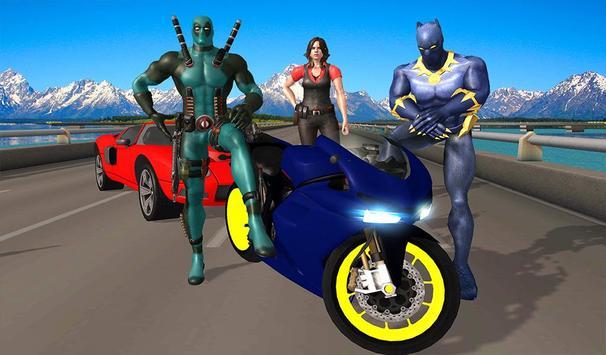 Superhero Cop Car & Bike Stunt Racing screenshot 15