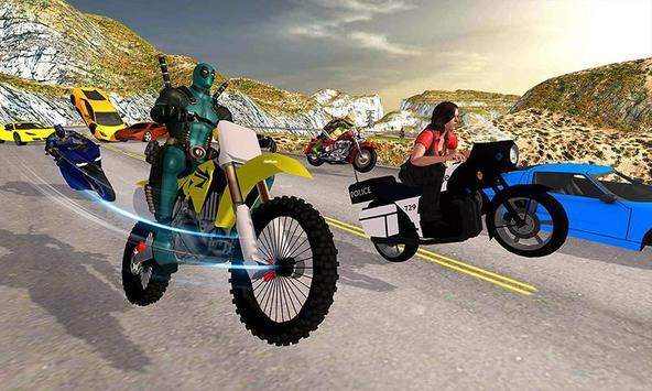 Superhero Cop Car & Bike Stunt Racing screenshot 1