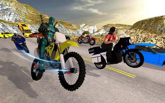 Superhero Cop Car & Bike Stunt Racing screenshot 7