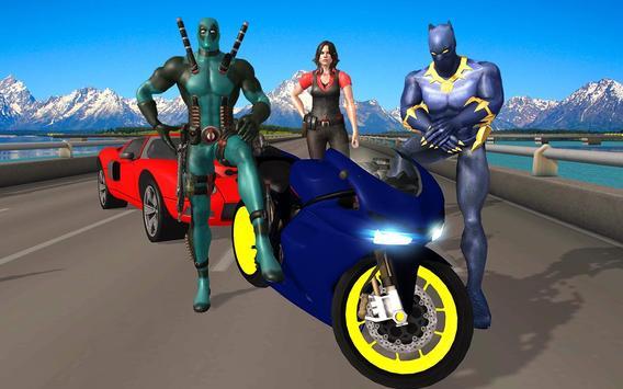 Superhero Cop Car & Bike Stunt Racing screenshot 9