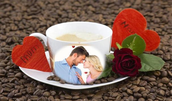 صورتك وصور حبيبك في اكواب قهوة screenshot 2