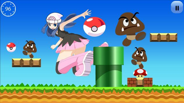 princess dawn  run jump, adventure poster