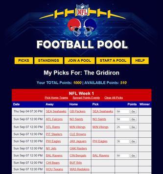 NFL Pool Office Football Pool poster
