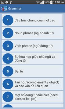 Ngu phap tieng anh - grammar screenshot 1