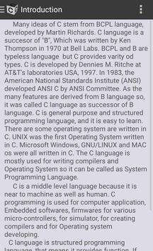 C Basics apk screenshot