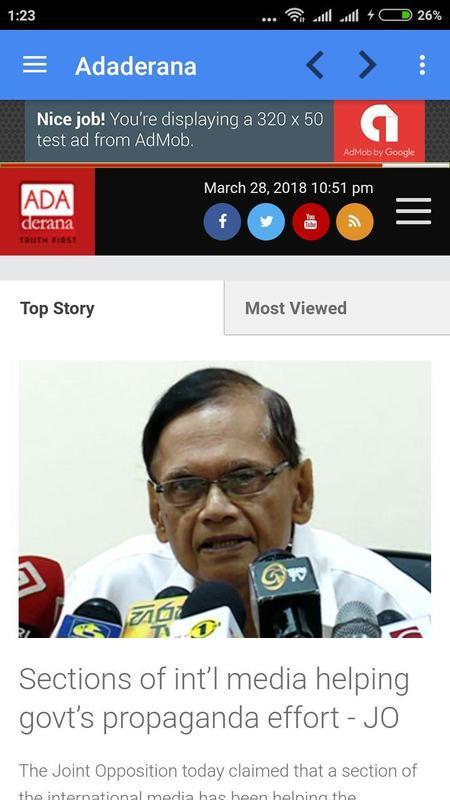 Sri Lanka News Online Screenshot 4