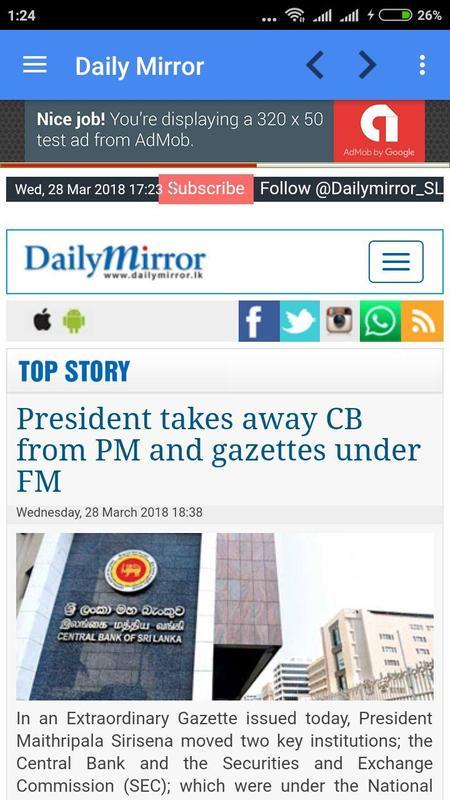 Sri Lanka News Online Screenshot 6