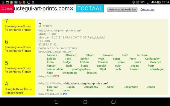 Web analytics from Tootaal screenshot 1