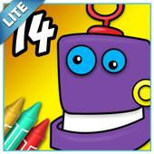 Coloring Book 14 Lite: Robots icon