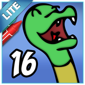 Coloring Book 16 Lite: Silly Scenes icon