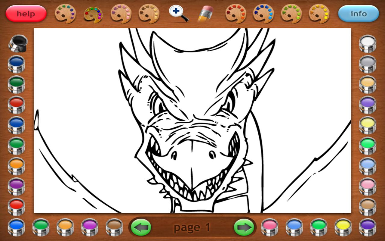 Coloring Book 25 Lite: Dragon Attack Descarga APK - Gratis ...