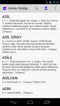 isimler Sözlüğü EX apk screenshot