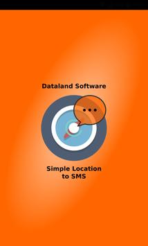 Simple Location to SMS poster