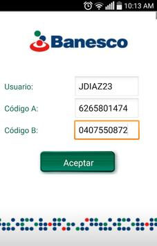 Banesco Token NV apk screenshot