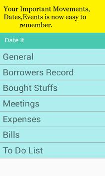 My Important Movements[Meetings,Bills,Appointment] poster