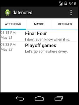 Date Noted apk screenshot