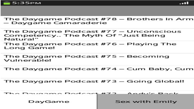 dating podcast apk screenshot