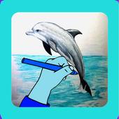 Comment dessiner un dauphin icon