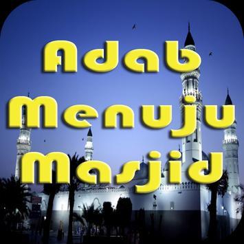 Adab Masuk dan Keluar Masjid poster