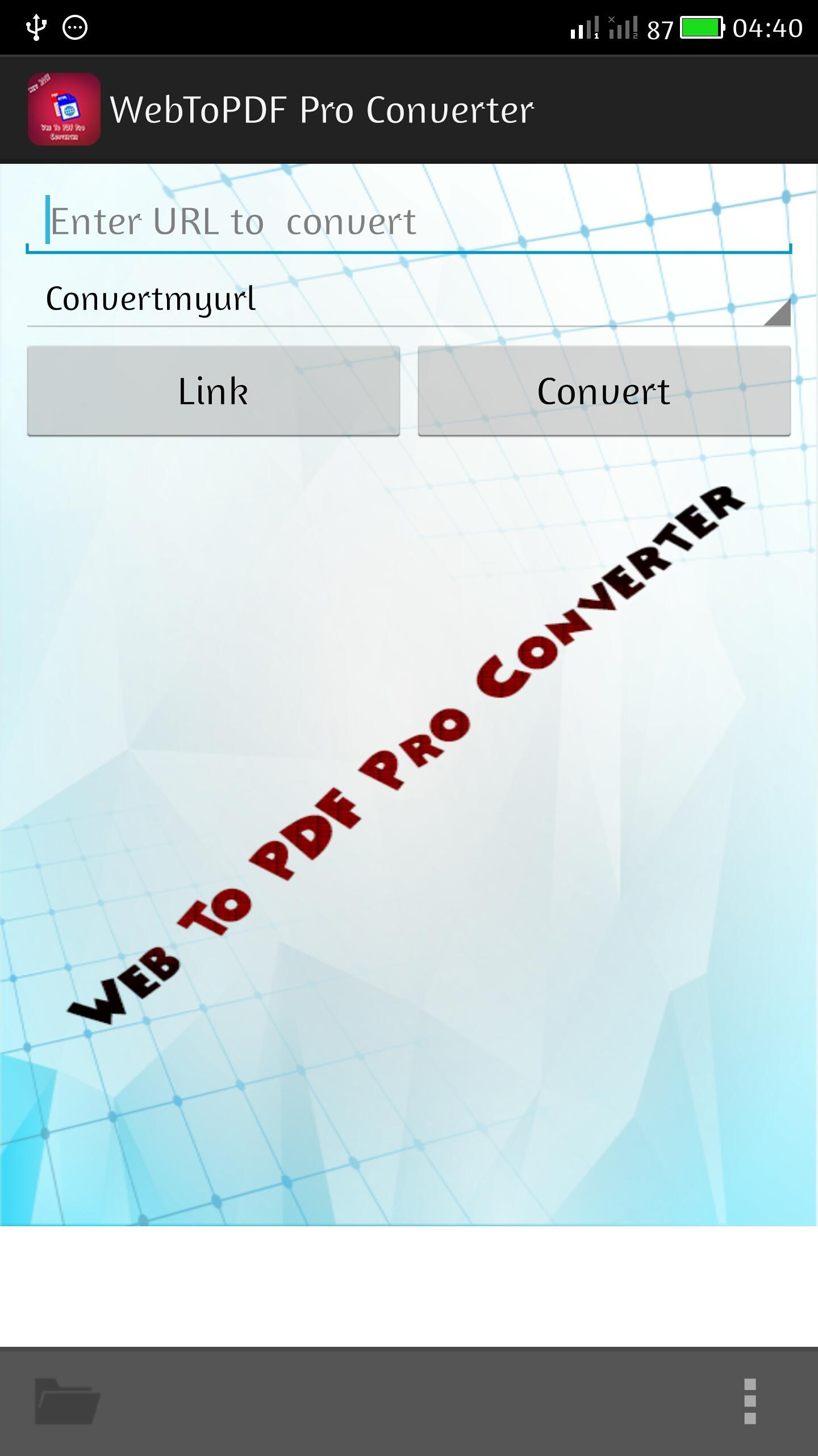 Web To PDF Pro Converter for Android - APK Download