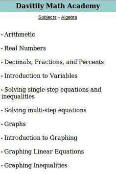 Davitily Math Academy poster