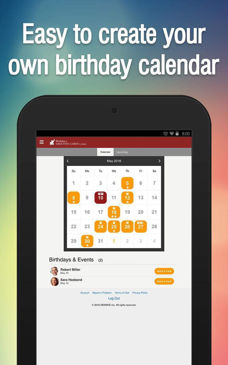Free Birthday Greeting Cards By Davia Screenshot 10