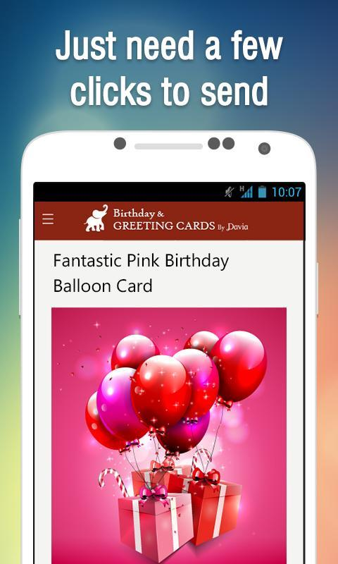 Free Birthday Greeting Cards By Davia Screenshot 1