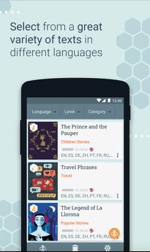 Beelinguapp:  تعلم اللغات مع الكتب الصوتية apk تصوير الشاشة
