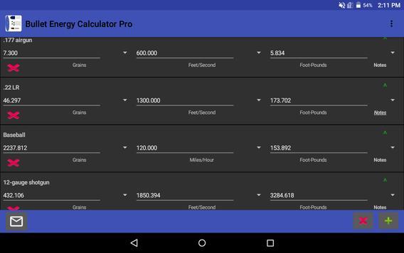 Bullet Energy Calculator Pro Screenshot 10