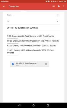 Bullet Energy Calculator Pro Screenshot 13