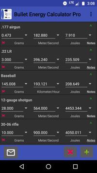 Bullet Energy Calculator Pro Screenshot 1