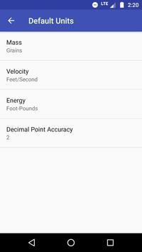 Bullet Energy Calculator Pro Screenshot 7