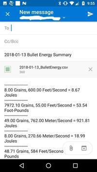 Bullet Energy Calculator Pro Screenshot 5