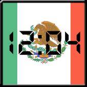 Flag LCD Clock Widget Mexico icon
