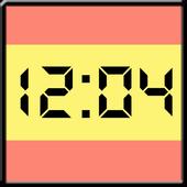 Flag LCD Clock Widget España icon