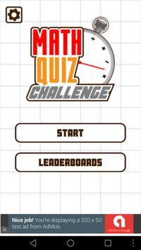 Math Quiz Challenge poster