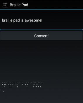 Braille Pad apk screenshot